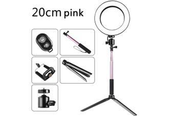 DC5V 5W 64 LED Ring Light Round Selfie Camera Lamp pink
