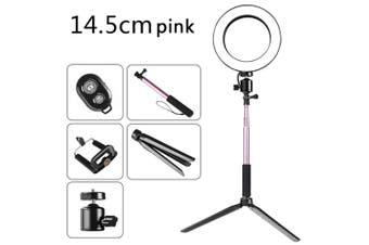 DC5V 5W 64 LED Ring Light Round Selfie Camera Lamp pink1