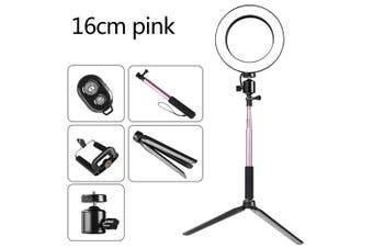 DC5V 5W 64 LED Ring Light Round Selfie Camera Lamp pink2