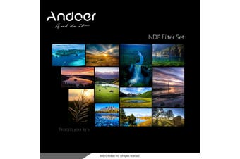Andoer 82mm Fader ND8 Filter Neutral Density Photography Filter for Nikon Canon Sigma Sony DSLRs