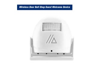 Wireless Door Bell Shop Guest Welcome Device Infrared Motion Sensor Home Anti-theft Alarm,White white