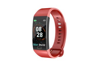 RD11 Smart Bracelet 1.14 inch Sports Bracelet with Heart Rate Blood Pressure Blood Oxygen Monitoring IP67 Waterproof Red red
