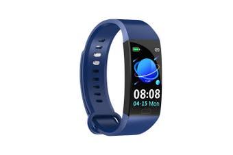 RD11 Smart Bracelet 1.14 inch Sports Bracelet with Heart Rate Blood Pressure Blood Oxygen Monitoring IP67 Waterproof Blue blue