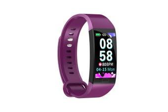 RD11 Smart Bracelet 1.14 inch Sports Bracelet with Heart Rate Blood Pressure Blood Oxygen Monitoring IP67 Waterproof Purple purple