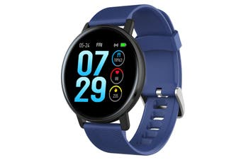 IP67 Smart Bracelet Women Men Fitness Tracker Watch Heart Rate Blood Pressure Blood Oxygen Step Counter Calorie Counter Sleep Monitoring blue