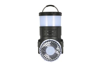 Outdoor Camping Lantern Portable Rechargeable LED Tent Lantern Light Lamp Multi-Function with Cooling Fan Radio Mosquito Repeller for Hiking Fishing