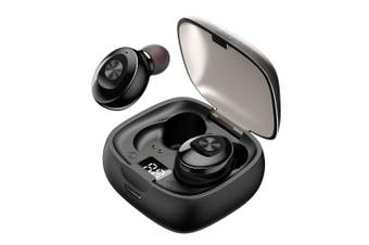 TWS Bluetooth 5.0 Wireless Headphones Mini Smart In-Ear Headset with Mic Pick Up Automatic Pairing Earbuds-black