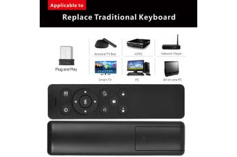 2.4GHz Wireless Remote Control with USB 2.0 Receiver Adapter for Smart TV Android TV Box Google TV HTPC