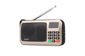 Rolton W405 Portable FM Radio Computer Speaker-gold