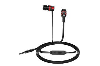 PTM Wired In-ear Earphones Stereo Gaming Headset Headphones with In-line Control \u0026 Microphone for PSP iPhone iPad Android Smartphones Tablet PC Laptop-brown