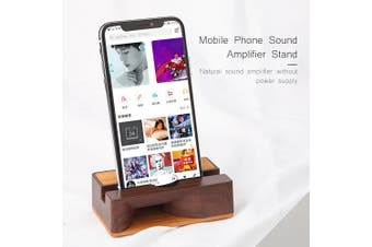 Mobile Phone Sound Amplifier Stand Wooden Cell Phone Stand with Sound Amplifier Phone Holder Desk Support