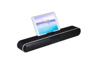 Mini Speaker Portable Wireless BT Soundbar Speaker With Phone Holder-black