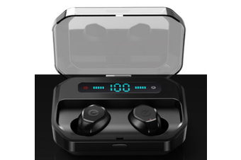 TWS Bluetooth Noise Cancelling Earphones-black