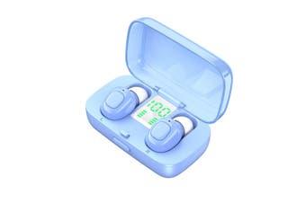 TWS Bluetooth Noise Cancelling Earphones-blue