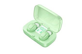 TWS Bluetooth Noise Cancelling Earphones-green