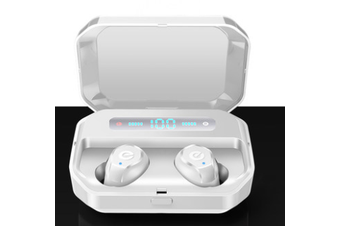TWS Bluetooth Noise Cancelling Earphones-white
