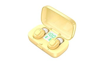 TWS Bluetooth Noise Cancelling Earphones-yellow
