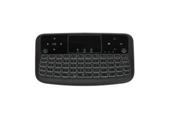 A36 Mini Wireless Keyboard 2.4G Color Backlit Air Mouse Touchpad Keyboard For Android TV Box Smart TV PC PS3-black
