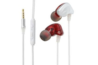 3.5mm In-ear Sport Headphone with Mic Line Control Headphones Dynamic Headset Heavy Bass Sound Headphone with 1.2m Cable Earphone for Phones Tablet Laptops with 3.5mm Interface-white