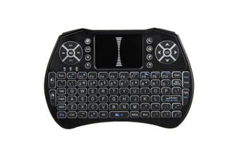 Backlit 2.4GHz Wireless Keyboard Air Mouse Touchpad Handheld Remote Control Backlight for Android TV BOX Smart TV PC Notebook-black