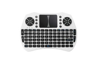 Backlit 2.4GHz Wireless Keyboard Air Mouse Touchpad Handheld Remote Control Backlight for Android TV BOX Smart TV PC Notebook-white