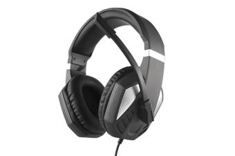 3.5mm Wired Gaming Headphones Over Ear Game Headset Noise Canceling Earphone with Microphone Volume Control for PC Laptop PS4-black