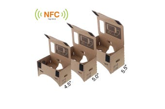 DIY Google Cardboard Virtual reality VR Mobile Phone 3D Glasses with NFC Tag for 5.5\