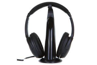 Hi-Fi Wireless Headphone FM Radio-black
