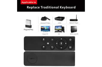 2.4GHz Wireless Remote Control with USB Receiver Adapter for Smart TV Android TV Box Google TV HTPC