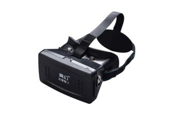 Best-selling Private 3D VR Glasses Virtual Reality DIY 3D Video VR Glasses with Magnetic Switch Hand Belt for All 3.5 ~ 6.0\-black