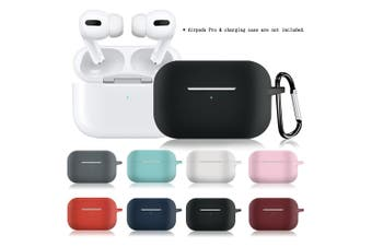 Protective Case Compatible with Apple AirPods Pro 2019 Wireless BT Earphones Case Silicone Shockproof Scratch-Resistant Compatible with Air Pods Pro Bag Cover