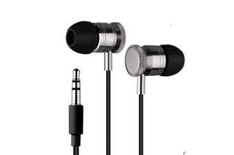 High Definition in-ear Noise Isolating Heavy Deep Bass Headphones Black