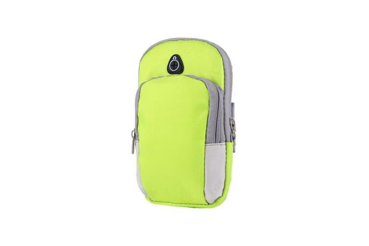 Nylon Sports Armband Arm Band Bag Key Money Card Cellphone Holder Green