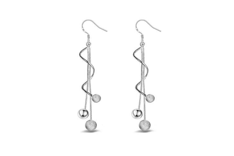 Women's Beans Tassel Long Drop Earrings Elegant Dangle Earrings P00004