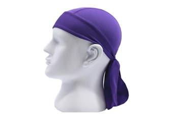 Outdoor Quick-dry Bandana Adjustable Breathable Head Wrap Beanie Purple