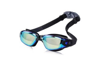 Swimming Goggles No Leaking Anti Fog UV Protection Triathlon Swim Goggles  BlackColoredLens