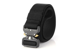 "1.7"" Military Style Shooters NylonTactical Heavy Duty Waist Belt  with Metal Buckle Black"