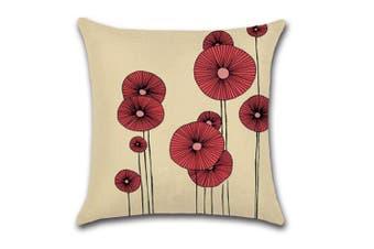 Cotton Linen Square Decorative Throw Pillow Case Cushion Cover 3
