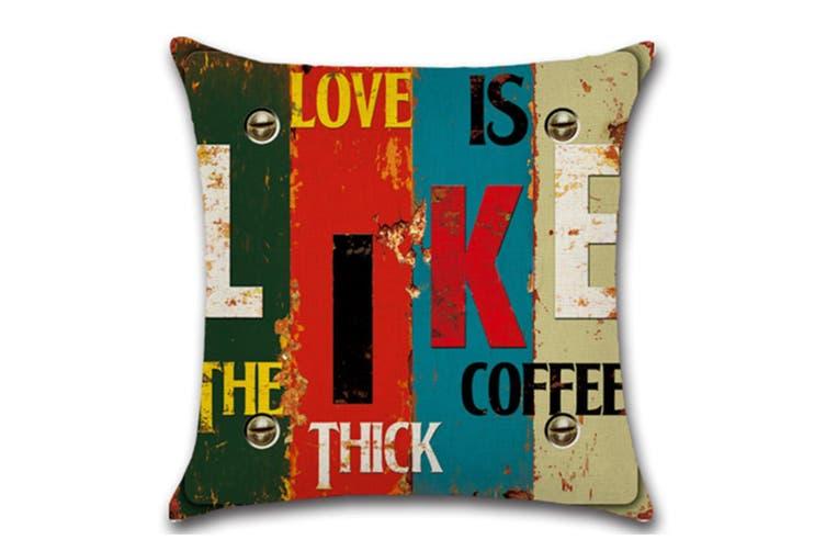 Cotton Linen Square Decorative Throw Pillow Case Cushion Cover Cofffee