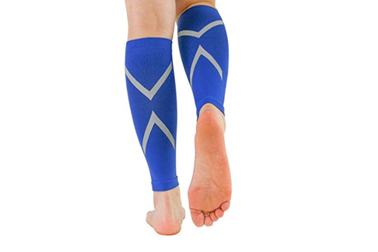Reflective Calf Compression Sleeve for Men & Women (20-30mmhg) M