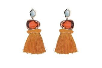 Tassel Earrings Cute Dangle Crystal Earring Thread Jewelry Bohemian Drop Earrings Yellow