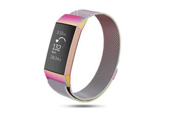 Milanese Loop Stainless Steel Replacement Bands for Fitbit Charge 3 and Charge 3 SE S