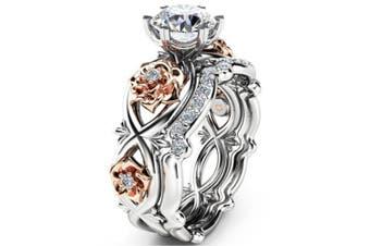 Platinum Plated Creative zircon ring 9
