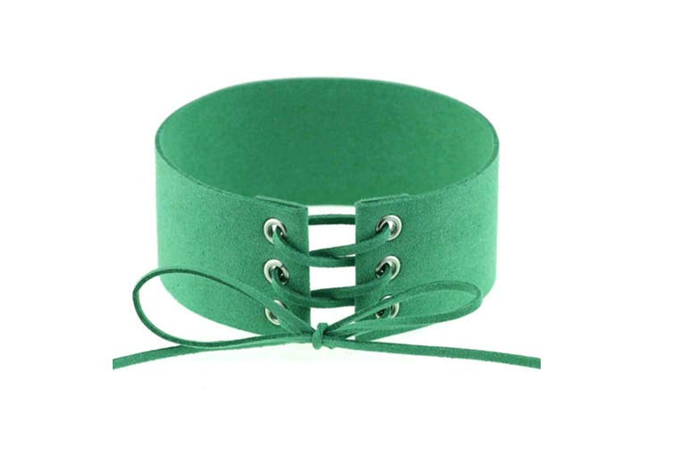 Tie Up Lace Up Choker Harajuku Velvet Belt Collar Necklace Green