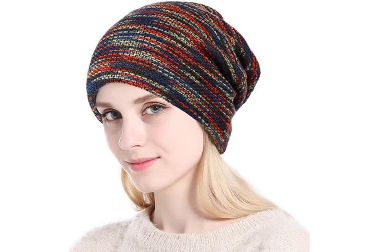 Winter Beanies Women or Men's Knit Cap Outdoor Warm Hat Red
