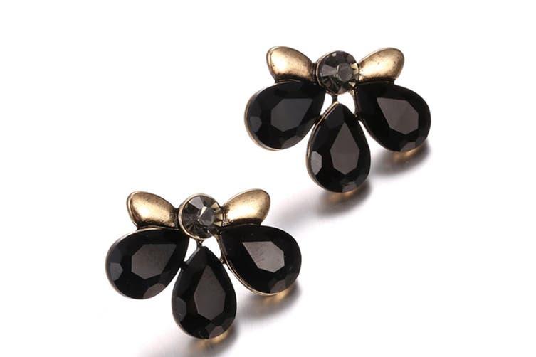 Multi Gemstone Earring Black