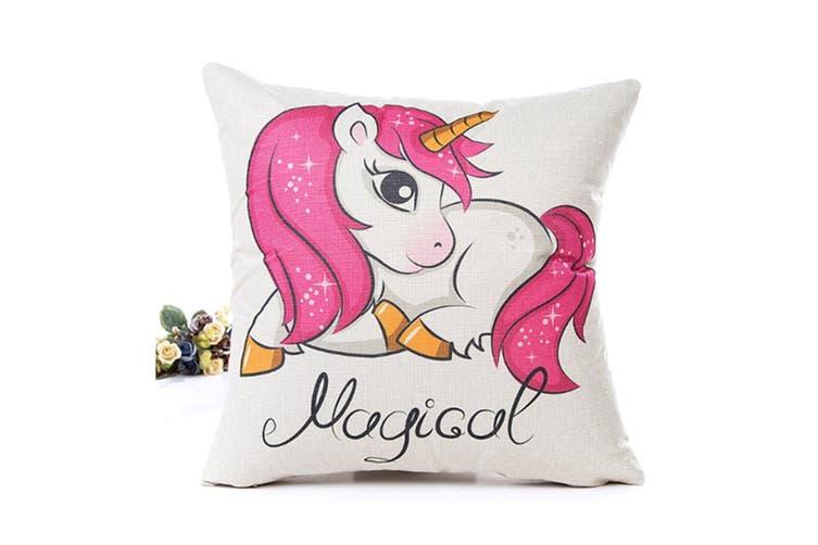 Cartoon Unicorn Print Pillow Case Bed Sofa Waist Cushion Cover 3