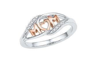 18K Zircon Crystal Rings Love Mom Ring 9