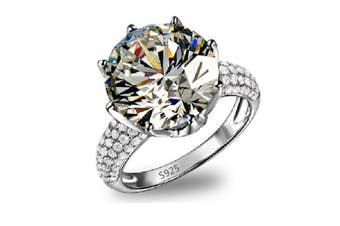 Austrian Crystal Eagagement Wedding Ring for Women Gift 6