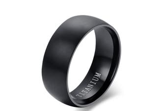Men's Black Titanium Ring Matte Finished Classic Engagement Anel Jewelry For Male Wedding Bands 14
